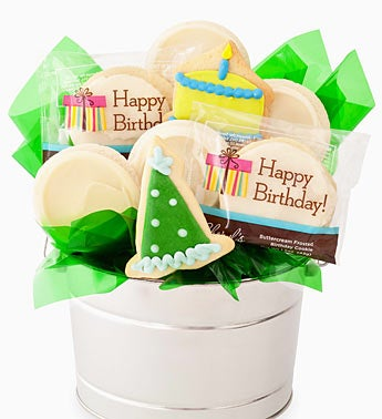 Happy Birthday Cookie Flower Pot