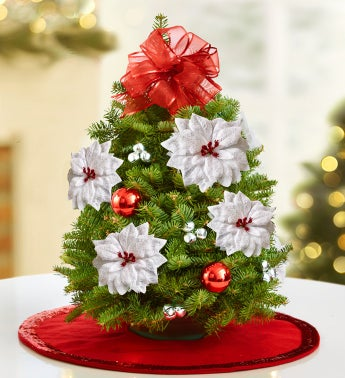 Christmas Tree Arrangement with Free Skirt