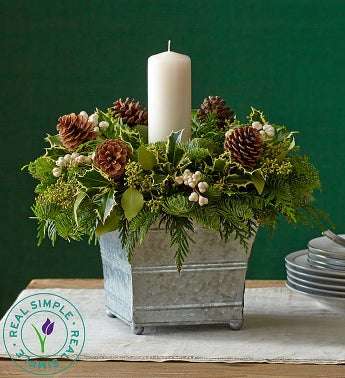 Real Simple� Brilliant Holiday Centerpiece