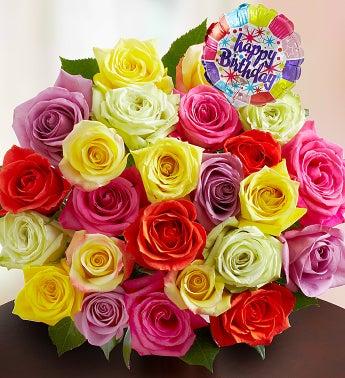 Happy Birthday Roses, Buy 12, Get 12 Free