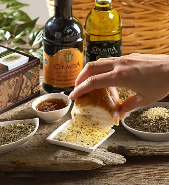 Dipping Set with Colavita Olive Oil & Vinegar