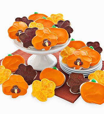 Cheryl's Leaf, Pumpkin, Turkey, Cookies 24ct