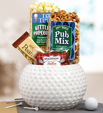 Golfer?s Choice Ceramic Bowl Gift Basket