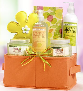 Lime & Citrus Spa Relaxation Gift Basket