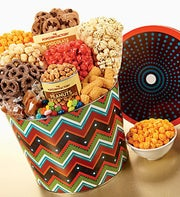 The Popcorn Factory� Zig Zag Snack Tin