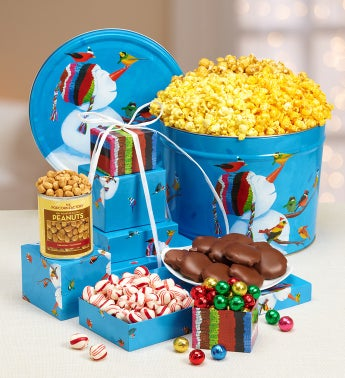 The Popcorn Factory� Frosty Friends Too Tin & Twr