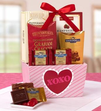 XOXO Valentine Sweets Basket