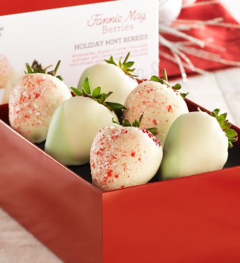 Fannie May Holiday Mint Chocolate Strawberries