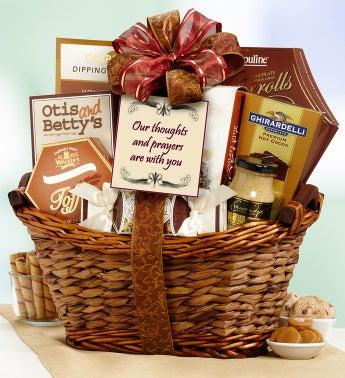 Thoughts and Prayers are With You Gift Basket