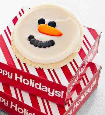 Cheryls Snowman Cookie Card