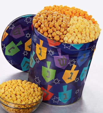 The Popcorn Factory� Spin the Dreidel Popcorn Tin