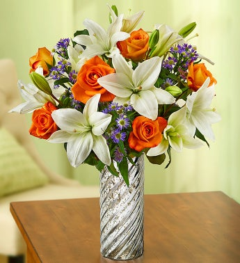 Summer Rose & Lily Bouquet