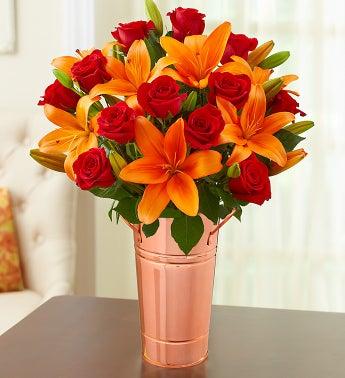 Autumn Rose & Lily Bouquet