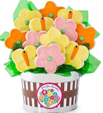 Spring Bouquet Cookie Pot
