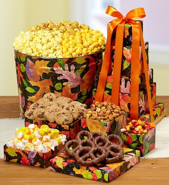 The Popcorn Factory� Fall Colors Tin & Tower
