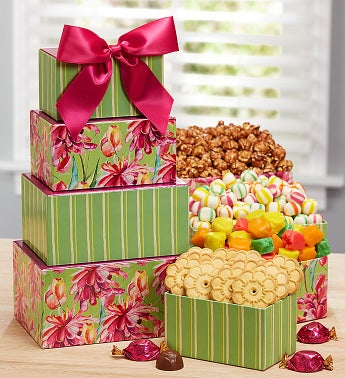 Flowering Fields Sweets Tower