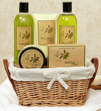 Olive Naturals Scented Spa Basket