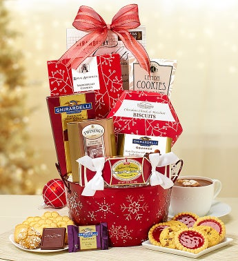 Snowy Holiday Gift Basket
