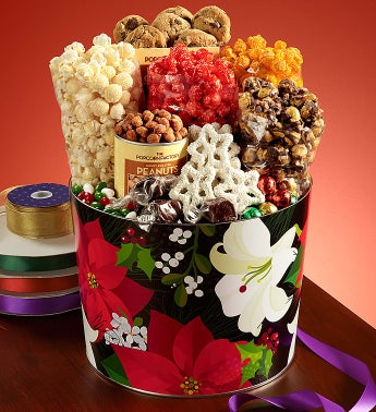 The Popcorn Factory� Winter Floral Snack Asst.