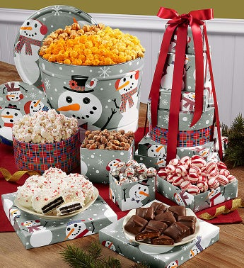 The Popcorn Factory� Snowtime Tin & Tower