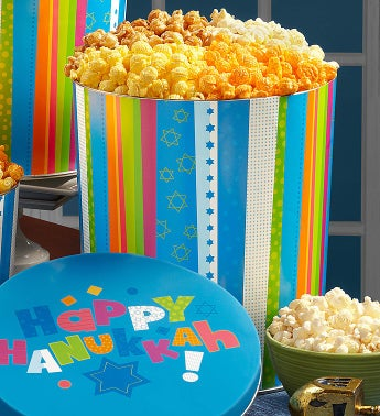 The Popcorn Factory� Happy Hanukkah Popcorn Tins