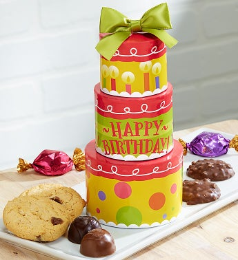 chocolate birthday gift tower