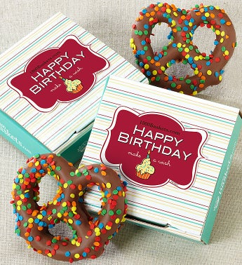Happy Birthday Pretzel Card