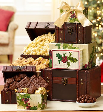 Holiday Treasures Trunk Gift Tower