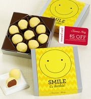 Fannie May Smiles Trinidads Chocolate Card