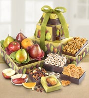 Succulent Fruit & Snacks Tower