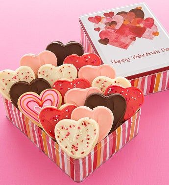 Cheryl's Hearts Gift Tin - 16ct