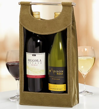 Festive Red & White Australian Wine Tote