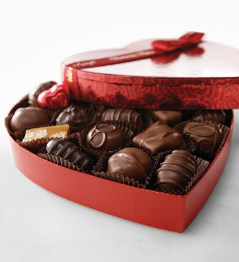 FM Asst Choc Foil Hearts Box 8 oz