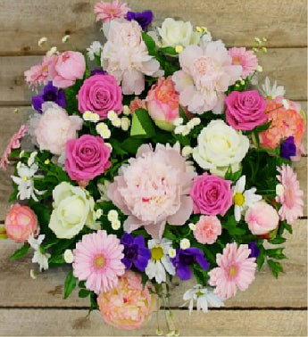 Large Pink & White Sympathy Wreath