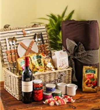Gourmet Picnic Basket and Blanket