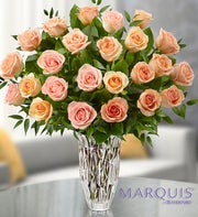 Marquis by Waterford� Premium Peach Roses