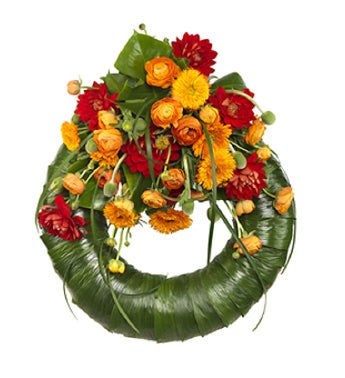 Tropical Funeral Wreath