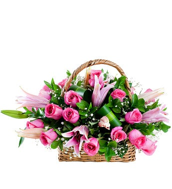 Rose and Stargazer Basket