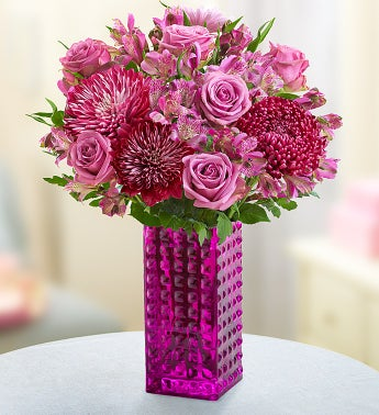 Purple Perfection + Free Purple Hobnail Vase