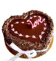 Chocolate Love Heart Cake