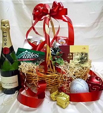 Elegant Moet Gift Basket