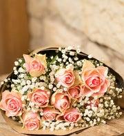 12 Light Pink Roses