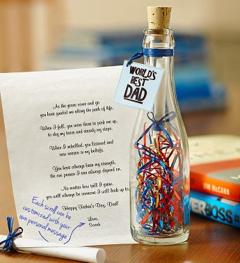World?s Best Dad Message in a Bottle�