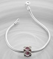 Chamilia® Bracelet with Amethyst Charm