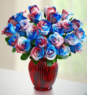 /Kaleidoscope Roses, Red, White & Blue