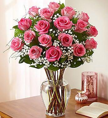 Premium Long-Stem Pink Roses