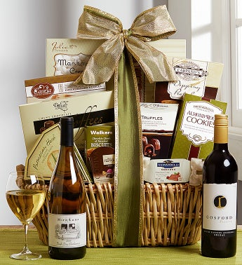 Regal Grandeur Red & White Wine Gift Basket