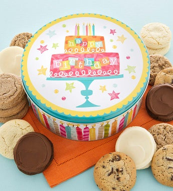 Cheryl's Musical Birthday Cake Tin - sugar free
