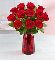 One Dozen Romantic Red Roses