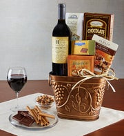 Grapevine Wine & Cheese Gift Basket